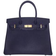 Brand New Hermes Birkin 30 Epsom Blue Indigo