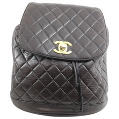 Chanel Vintage Brown leather Backpack