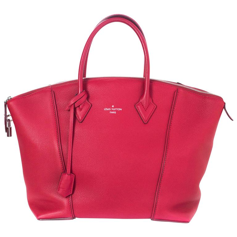 ae6afb0e0679 Louis Vuitton Red Veau Cachemire Soft Lockit MM Bag For Sale at 1stdibs