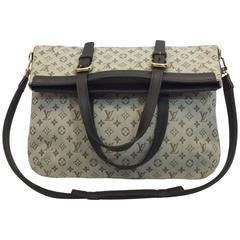 Louis Vuitton Mini Lin Canvas Flapover Purse