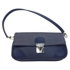 Louis Vuitton Epi Blue Leather Clutch
