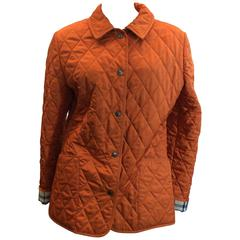 Burberry Orange Quilted Jacket