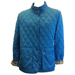 Burberry Blue Quilted Jacket