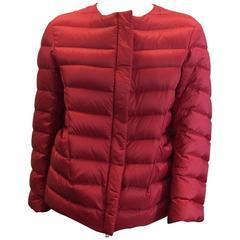 Jil Sander Red Down Jacket