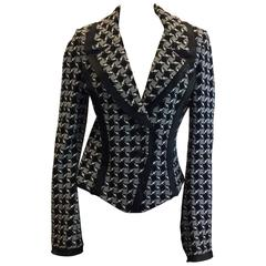 St. John Black Knit Blazer