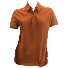 Hermes Orange Cotton Polo