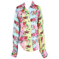 Todd Oldham Floral Print Shirt, Spring 1995