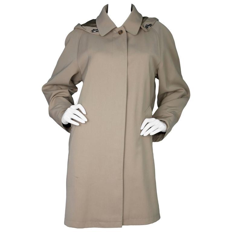 Burberry London Tan Trench Coat w/ Detachable Hood sz XL 1
