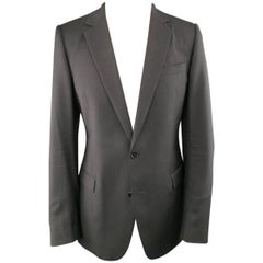 DIOR HOMME 40 Regular Black Wool Notch Lapel Sport Coat