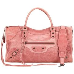 Balenciaga Pink Leather Motocross Classic Part - Time