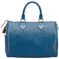 Louis Vuitton Blue Epi Speedy 25