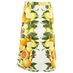 Stella McCartney Citrus Print Cotton Skirt - 38