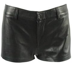 Ralph Lauren Collection Black Leather Shorts - 6