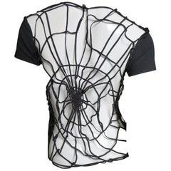 1980s Todd Oldham Spider Web Back T Shirt