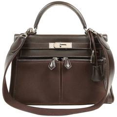 Hermès Chocolate Brown  Kelly Lakis 28 cm