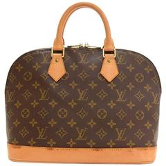 Louis Vuitton Alma Monogram Canvas Hand Bag