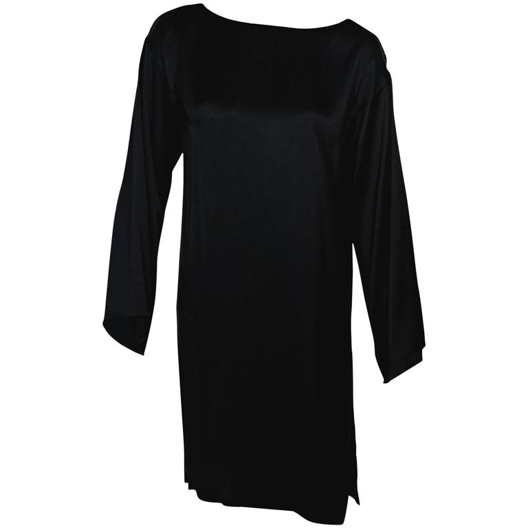 Black Ann Demeulemeester Long-Sleeve Dress 1
