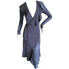 Yves Saint Laurent  by Tom Ford Sheer Brown Wrap Dress