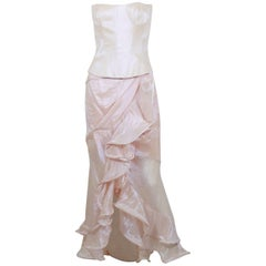 Thierry Mugler Couture Vintage Iridescent Pink Two Piece Suit