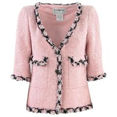 2007 Chanel Pink Cotton Blend Jacket