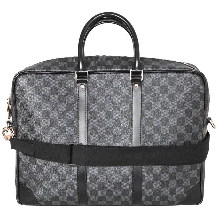 Louis Vuitton Damier Graphite Porte Doents Voyage Gm Computer Bag For