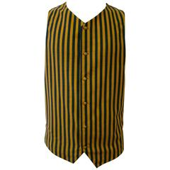 Gianni Versace Striped Waistcoat Vest Fall 1992