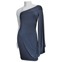 Antonio Berardi Silk Drape Sleeve Dress