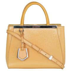 Fendi Yellow Patent Leather Petite 2Jours Satchel Crossbody Bag