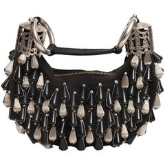Chloe Black and Silver Bracelet Bag
