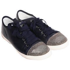 Lanvin Cap Toe Glitter Sneakers - Size 39
