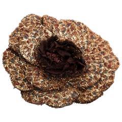 Vintage Chanel Camellia Brooch / Corsage