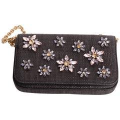 Dolce & Gabbana Floral Jewel Embellished Handbag