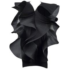 Pierre Cardin Couture Architectural Ruffle Dress
