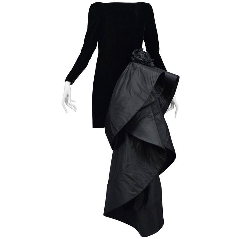 Pierre Cardin Couture Avant Garde Train Gown 1