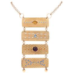 Amethyst Topaz Citrine Zircon Swarovski Crystal Necklace
