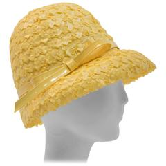 60s Yellow Straw Hat