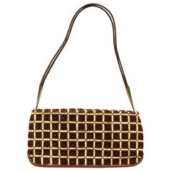 2000s Bottega Veneta Brown and Beige Wool Hand Bag