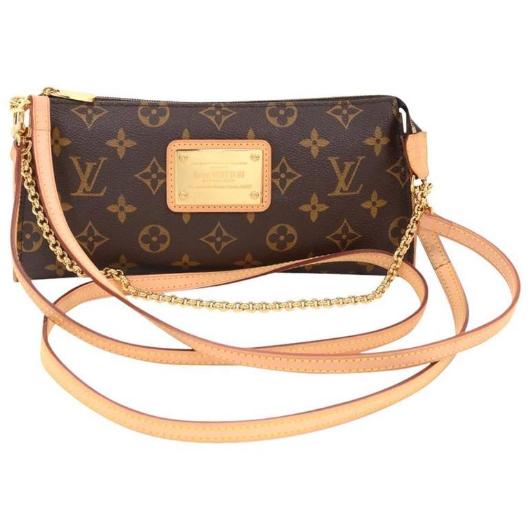 1stdibs Louis Vuitton Eva Ebene Damier Canvas Shoulder Bag Handbag Gold 7pNfcV