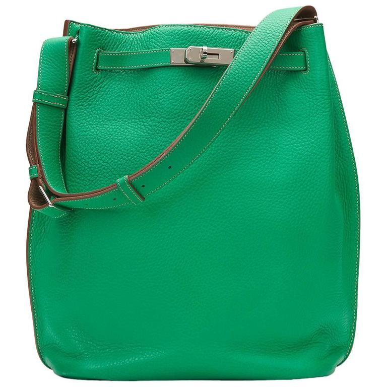 2013 Hermes Menthe Clemence Leather So Kelly 26 1