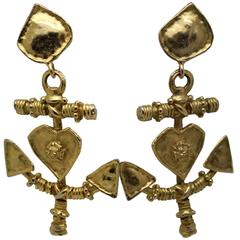 Maxi Earrings from Christian Lacroix in Gold Plated Metal