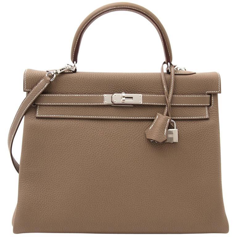 e10e0dd17ef Hermès Kelly 35cm Togo Etoupe For Sale at 1stdibs