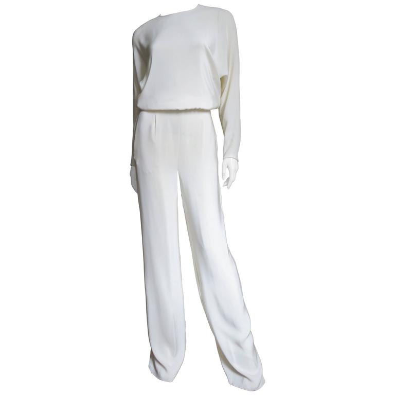 Valentino New Slit Back Dolman Sleeve Jumpsuit