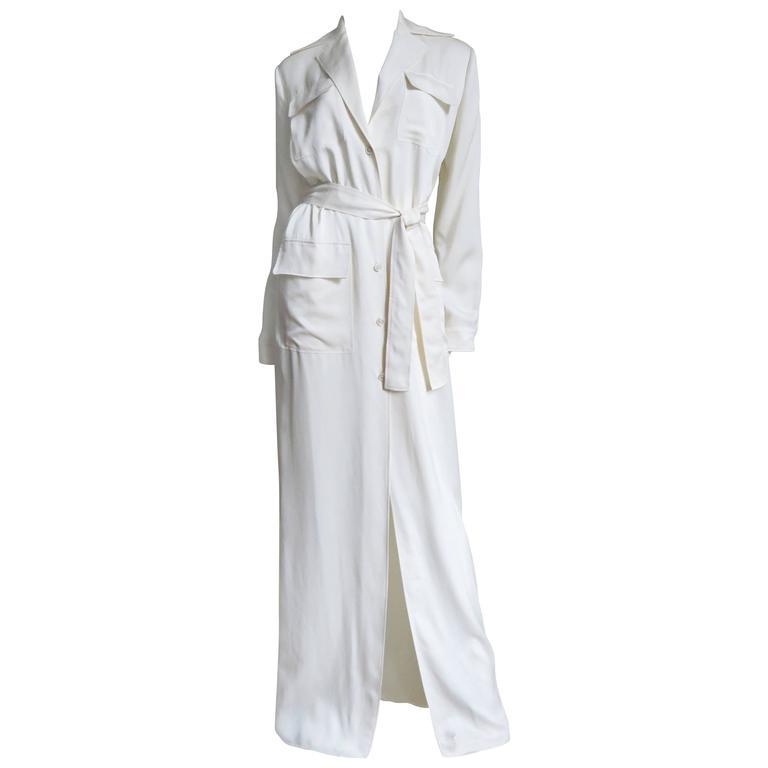 Gucci Silk Shirtwaist Maxi 1