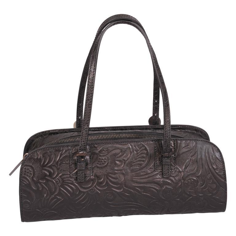 Fendi Khaki Canvas & Cognac Leather Trim B Handbag FS0RYSqBa5