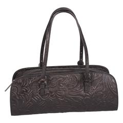 Fendi Baguette Black Western Style Tooled Leather Design, Never Used