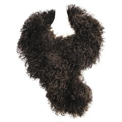 Black Double Ostrich Feather and Ribbon Stole