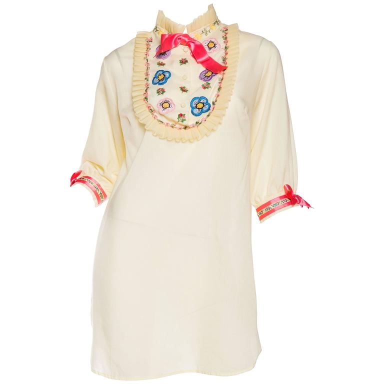 1960s Gucci Inspired Babydoll Shirt Dress 1
