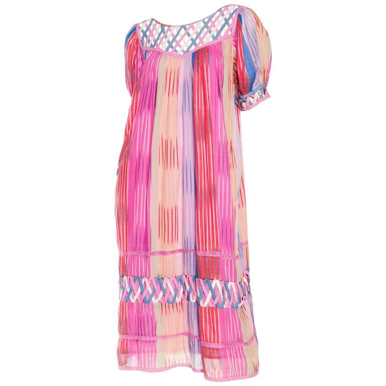 Handwoven Lightweight Cotton Ikat Dress