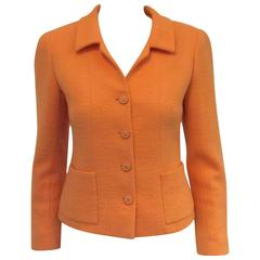 Chanel Boutique 1996 Spring Peach Wool Boucle Jacket