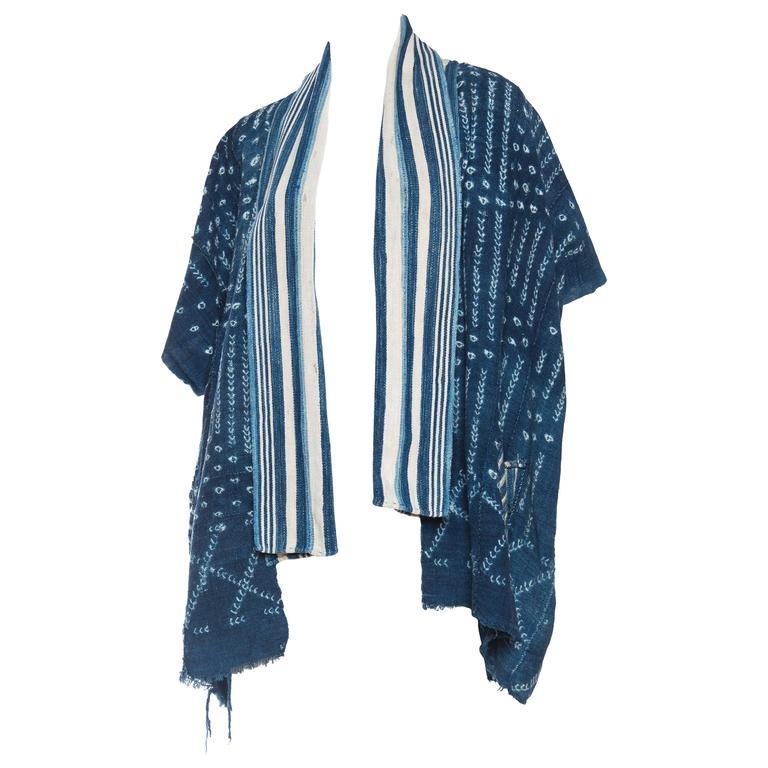 African Indigo Kimono inspired Jacket